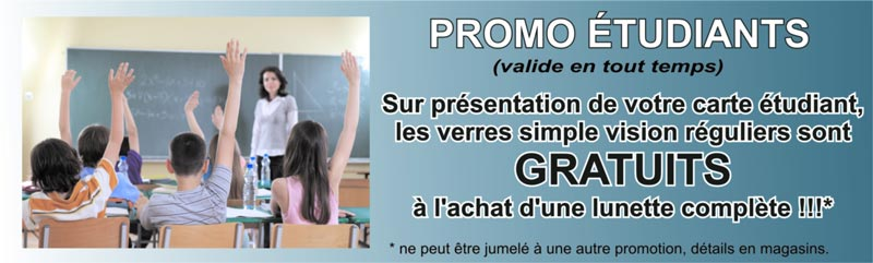 Promo étudiants